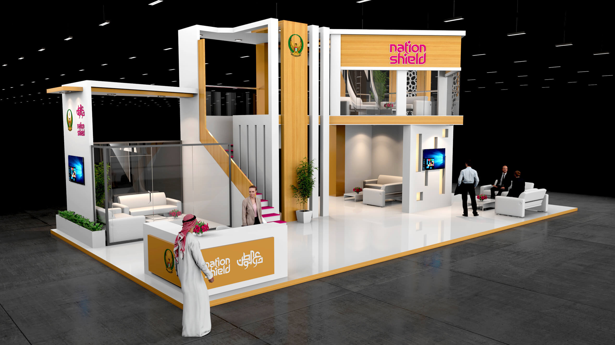 Flexible Exhibition Stands : Exhibition display stands fabrication competency of ndigitec