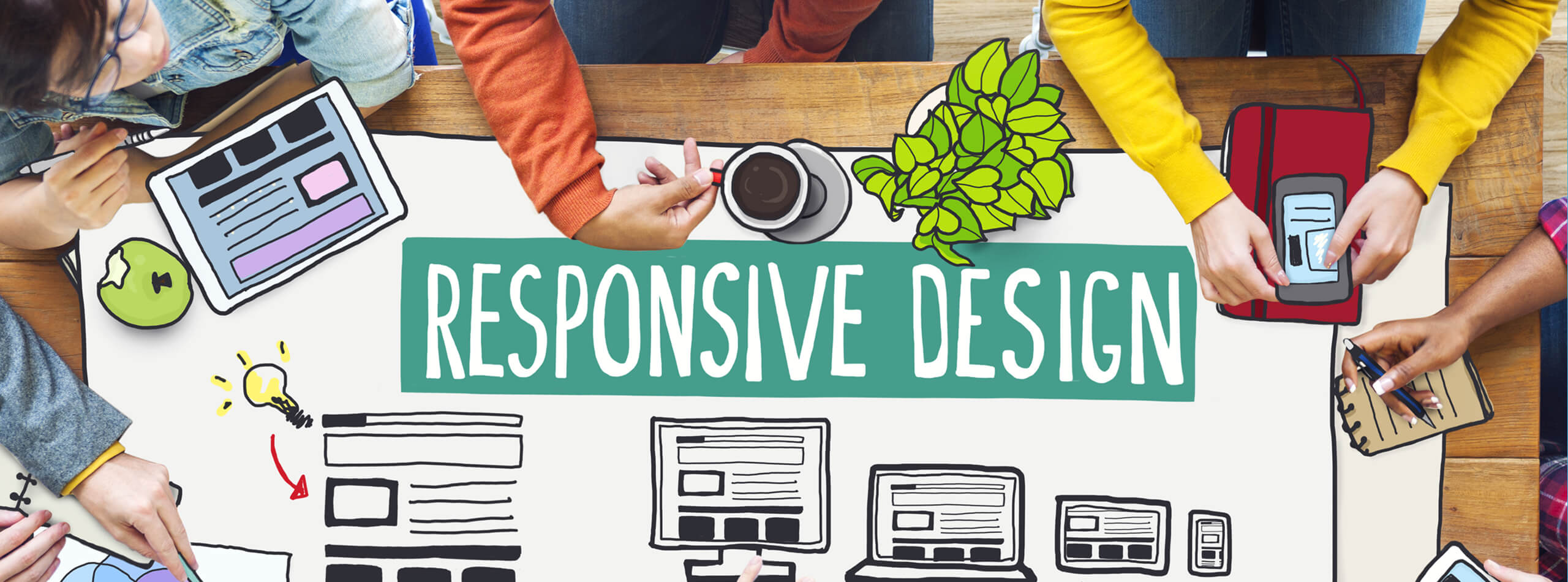 Responsive design: sketch visual