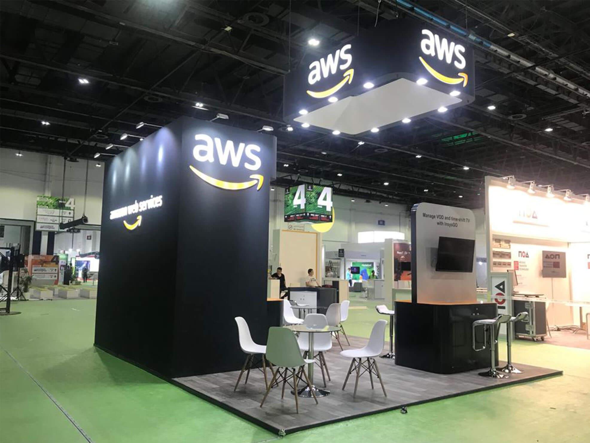 Amazon's trade show booth design