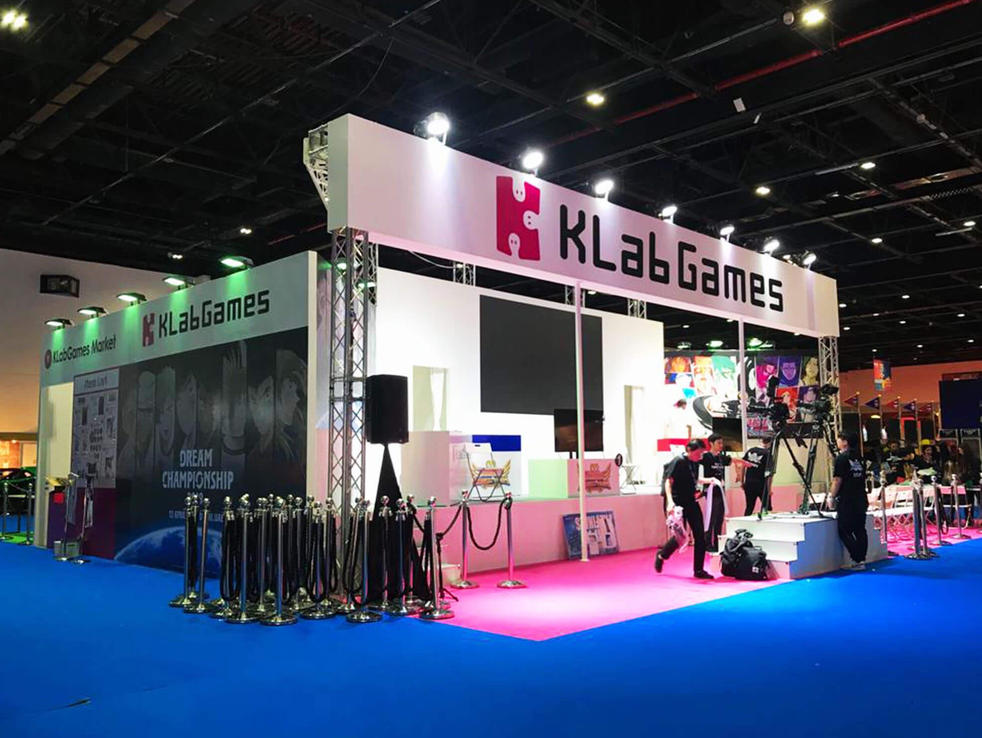 KLab trade show booth designs in Dubai