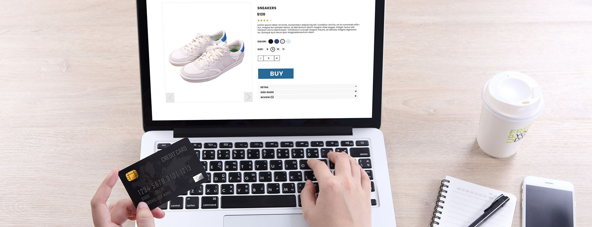 ordering shoes online