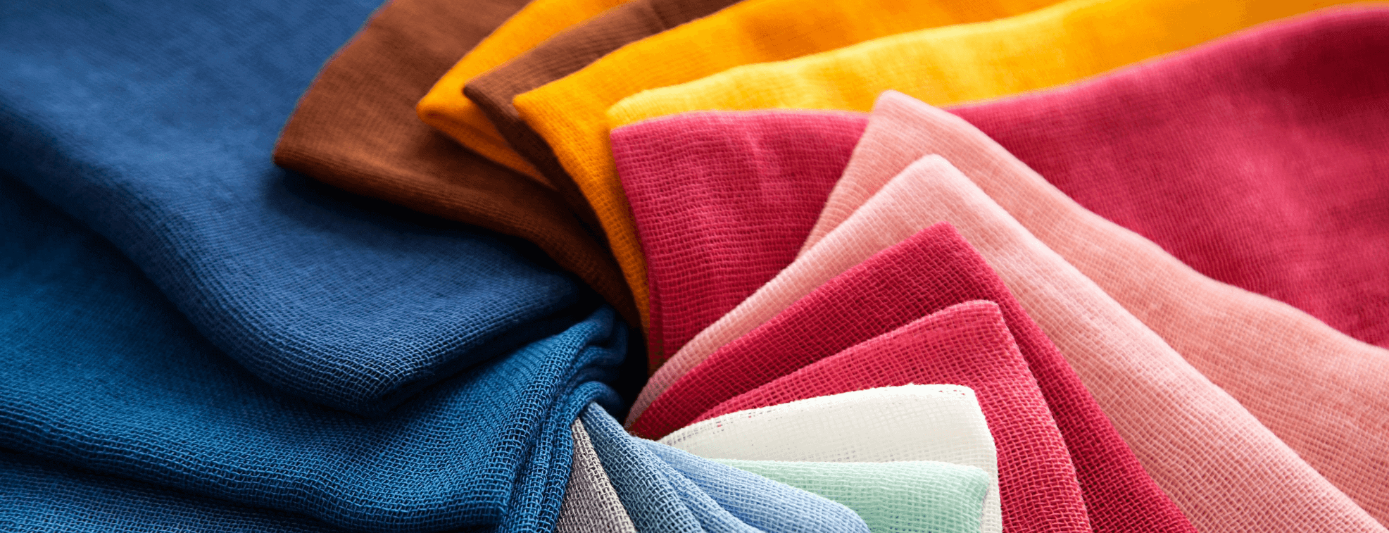 Colorful cotton fabrics